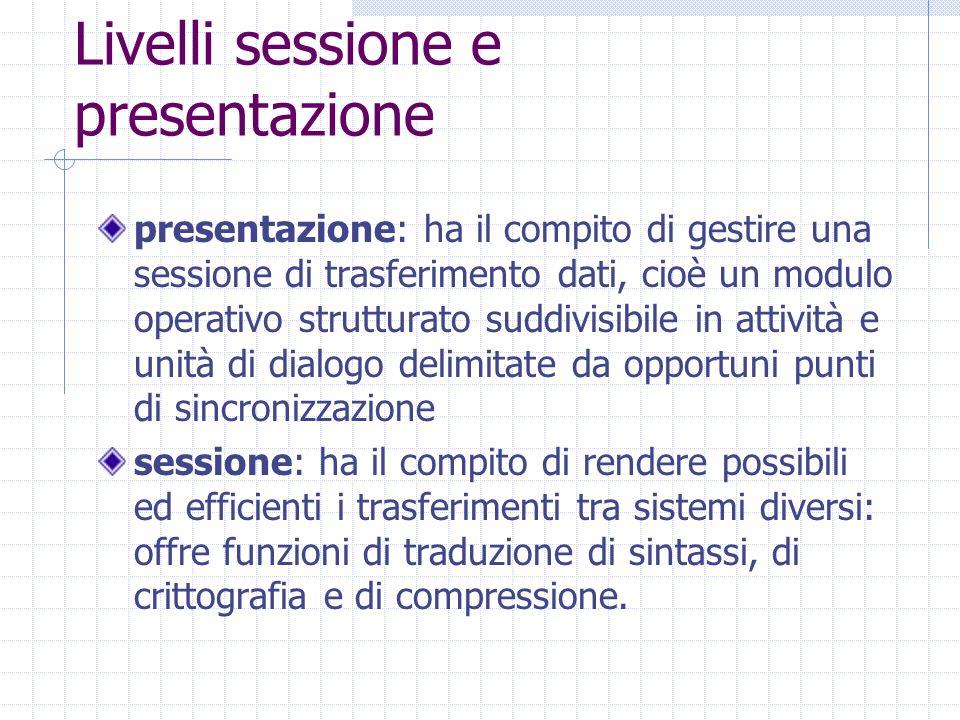Livelli sessione e presentazione