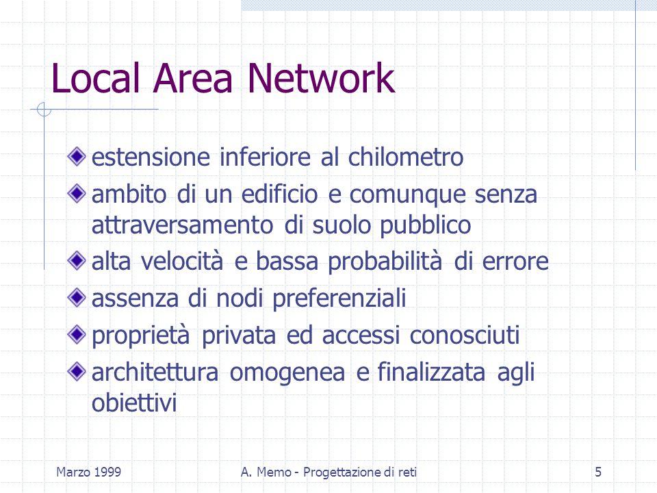 A. Memo - Progettazione di reti