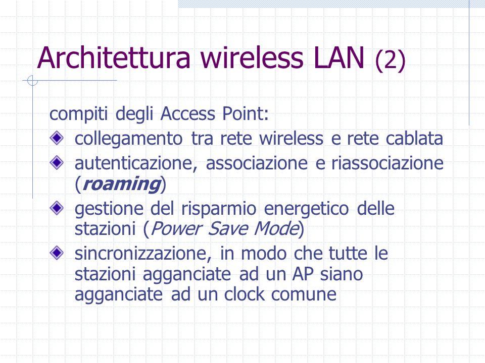 Architettura wireless LAN (2)