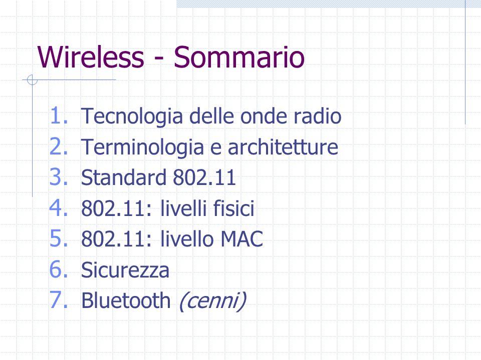 Wireless - Sommario Tecnologia delle onde radio