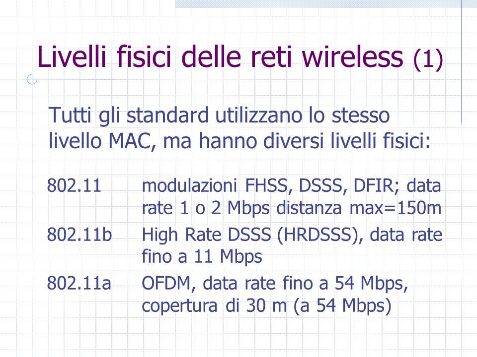 Livelli fisici delle reti wireless (1)
