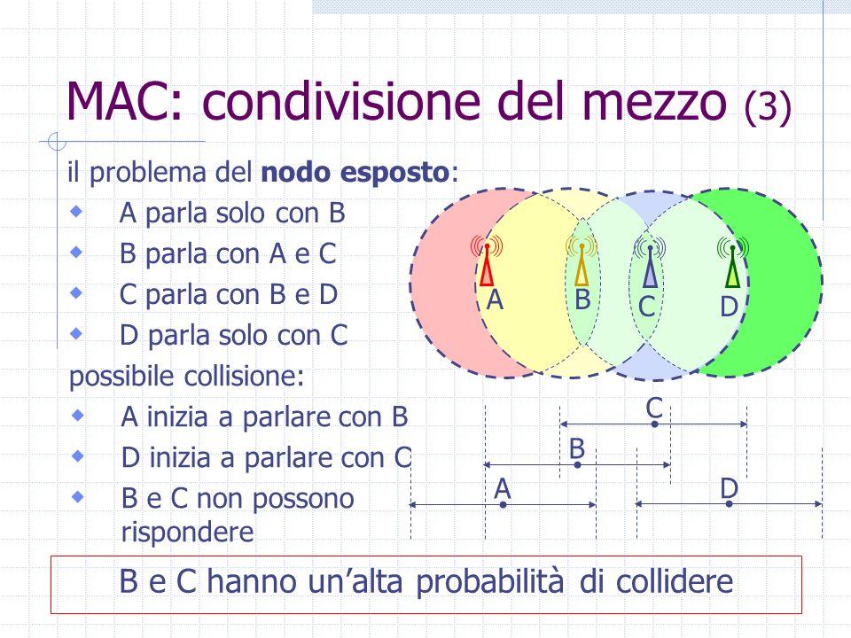 B e C hanno un'alta probabilità di collidere