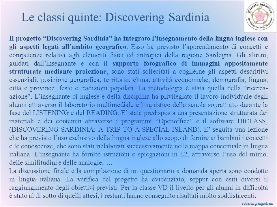 Le classi quinte: Discovering Sardinia