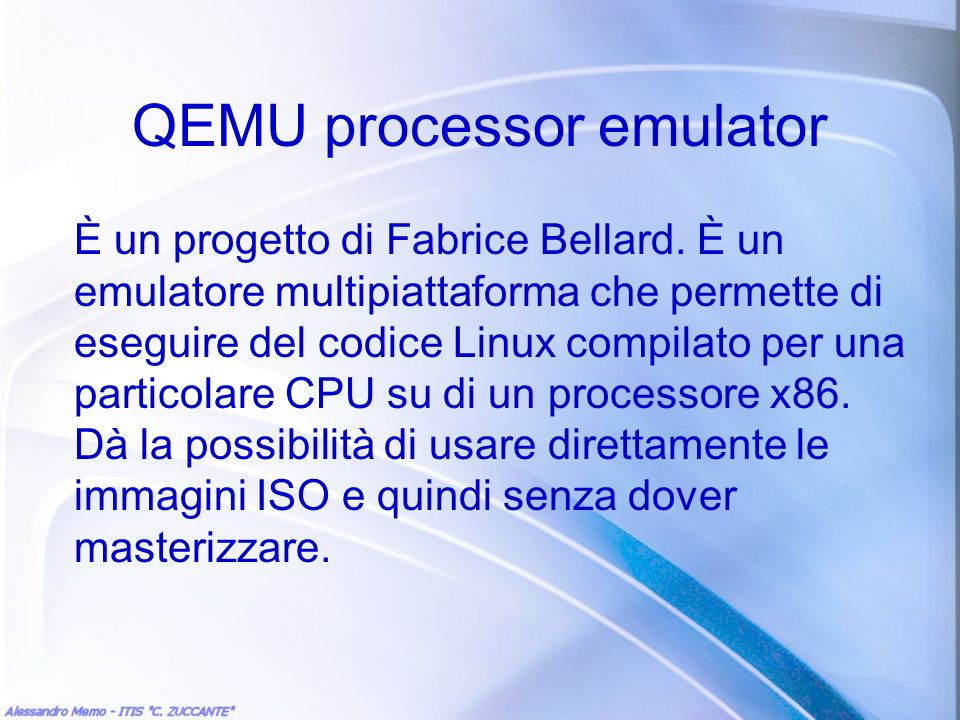 QEMU processor emulator