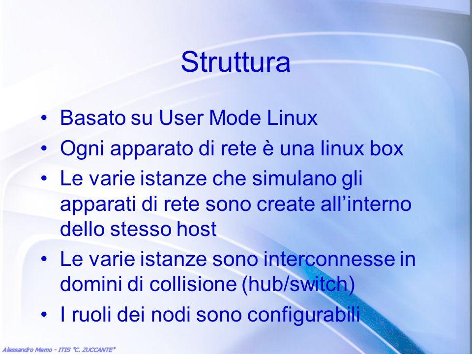Struttura Basato su User Mode Linux
