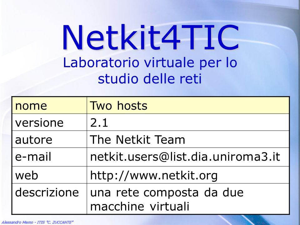 Laboratorio virtuale per lo studio delle reti