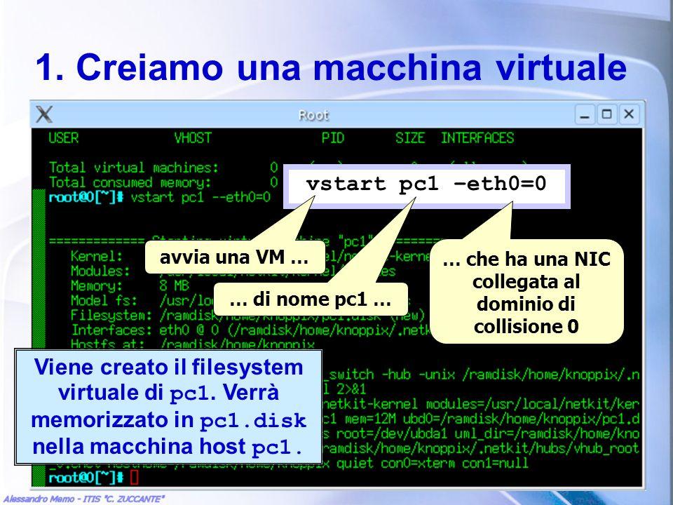 1. Creiamo una macchina virtuale