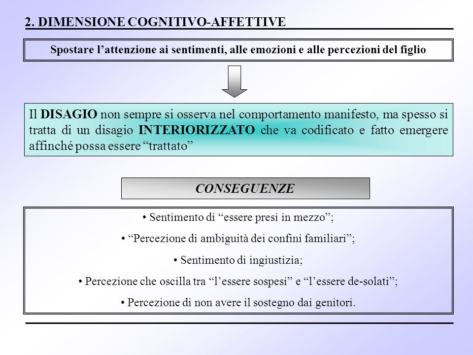 2. DIMENSIONE COGNITIVO-AFFETTIVE