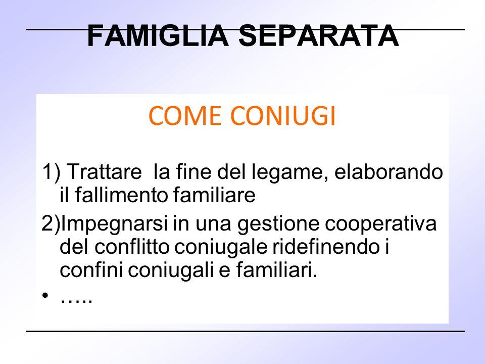 FAMIGLIA SEPARATA COME CONIUGI