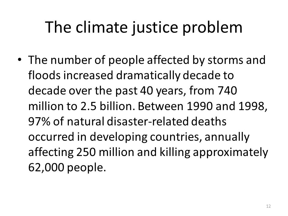 The climate justice problem