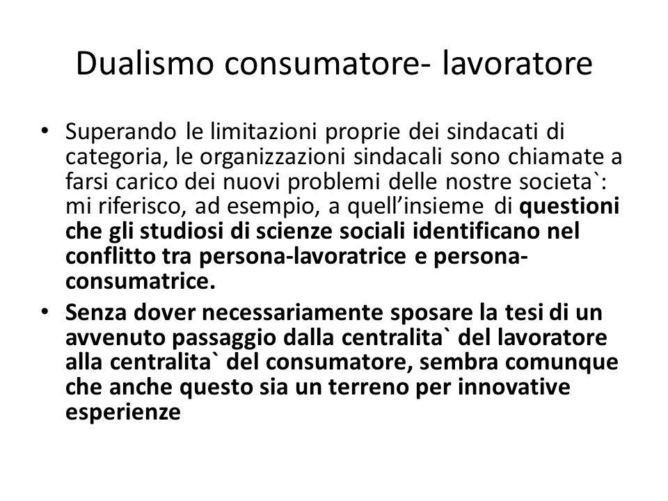 Dualismo consumatore- lavoratore