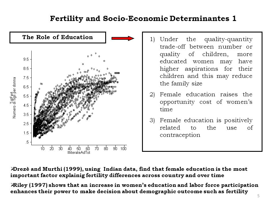 Fertility and Socio-Economic Determinantes 1