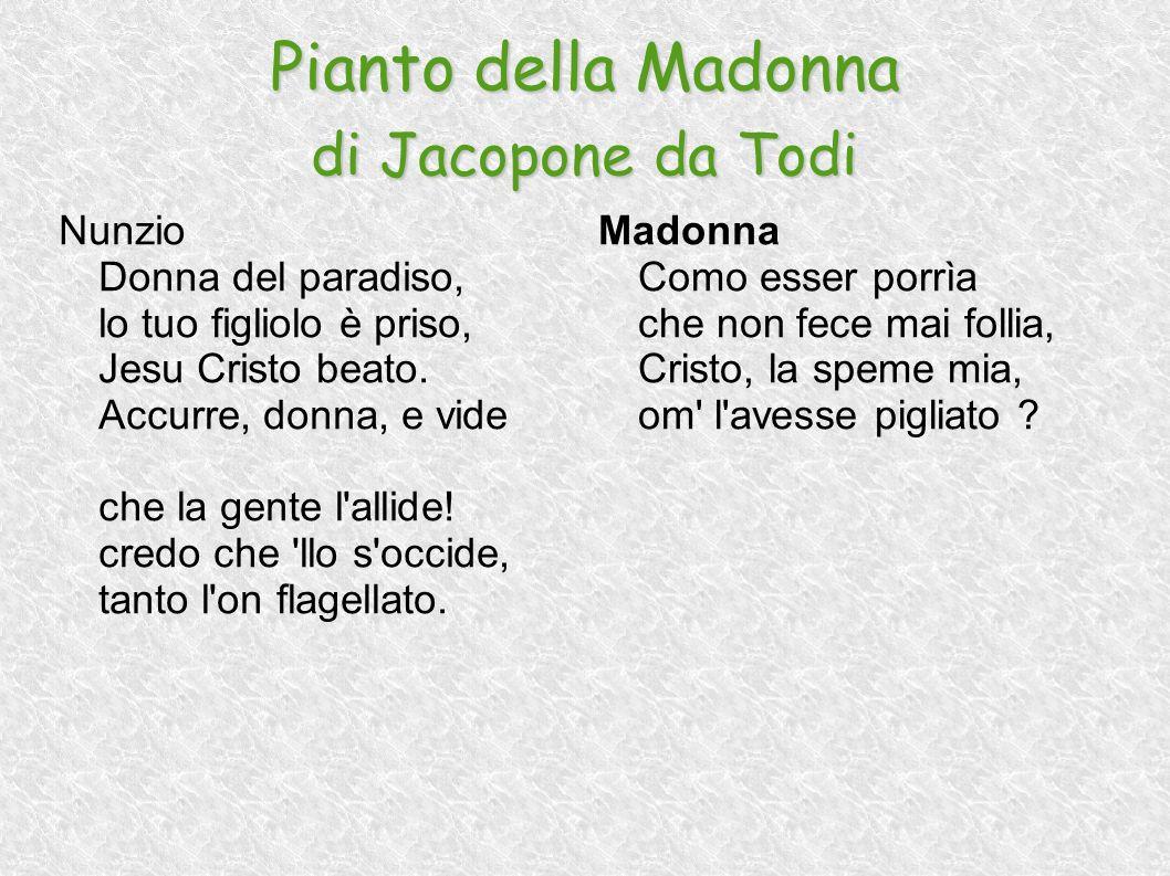 Pianto della Madonna di Jacopone da Todi