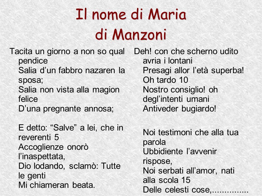 Il nome di Maria di Manzoni