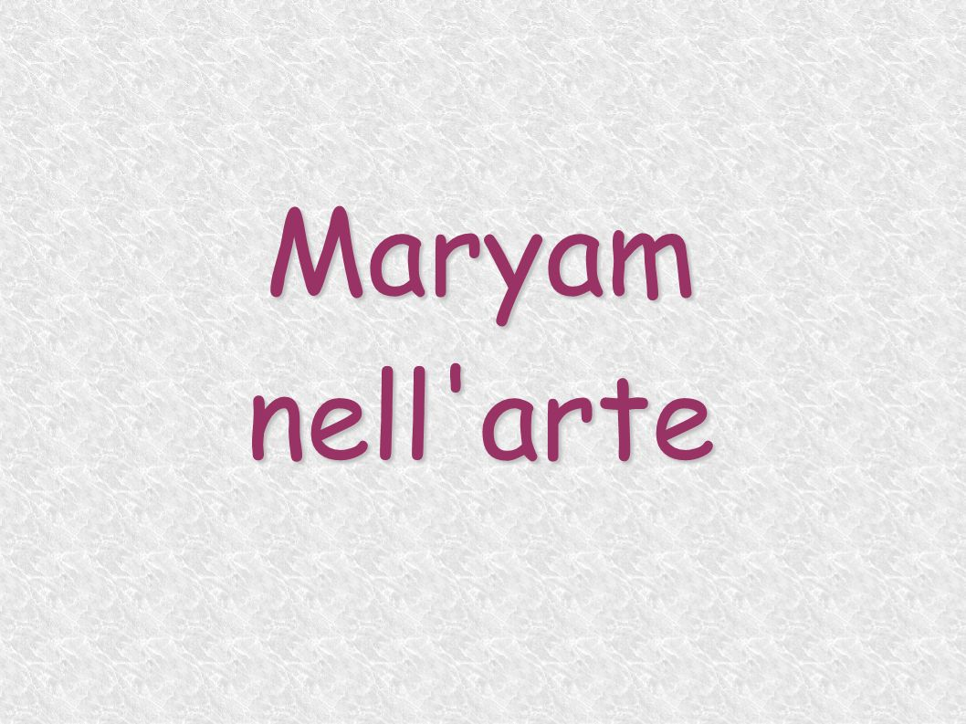 Maryam nell arte