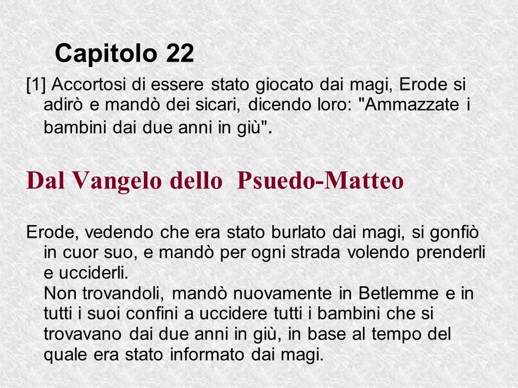 Dal Vangelo dello Psuedo-Matteo