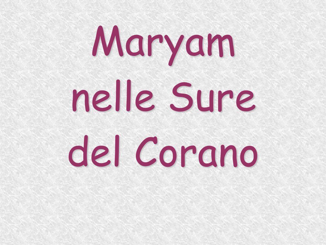 Maryam nelle Sure del Corano