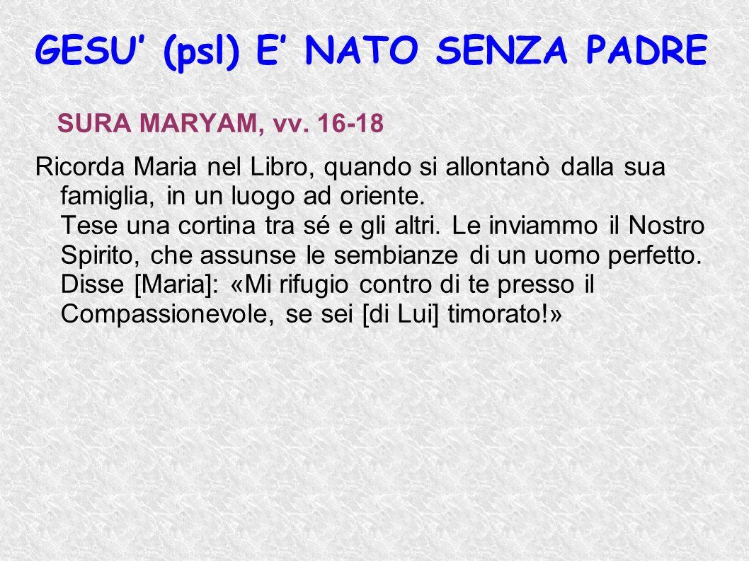 GESU' (psl) E' NATO SENZA PADRE