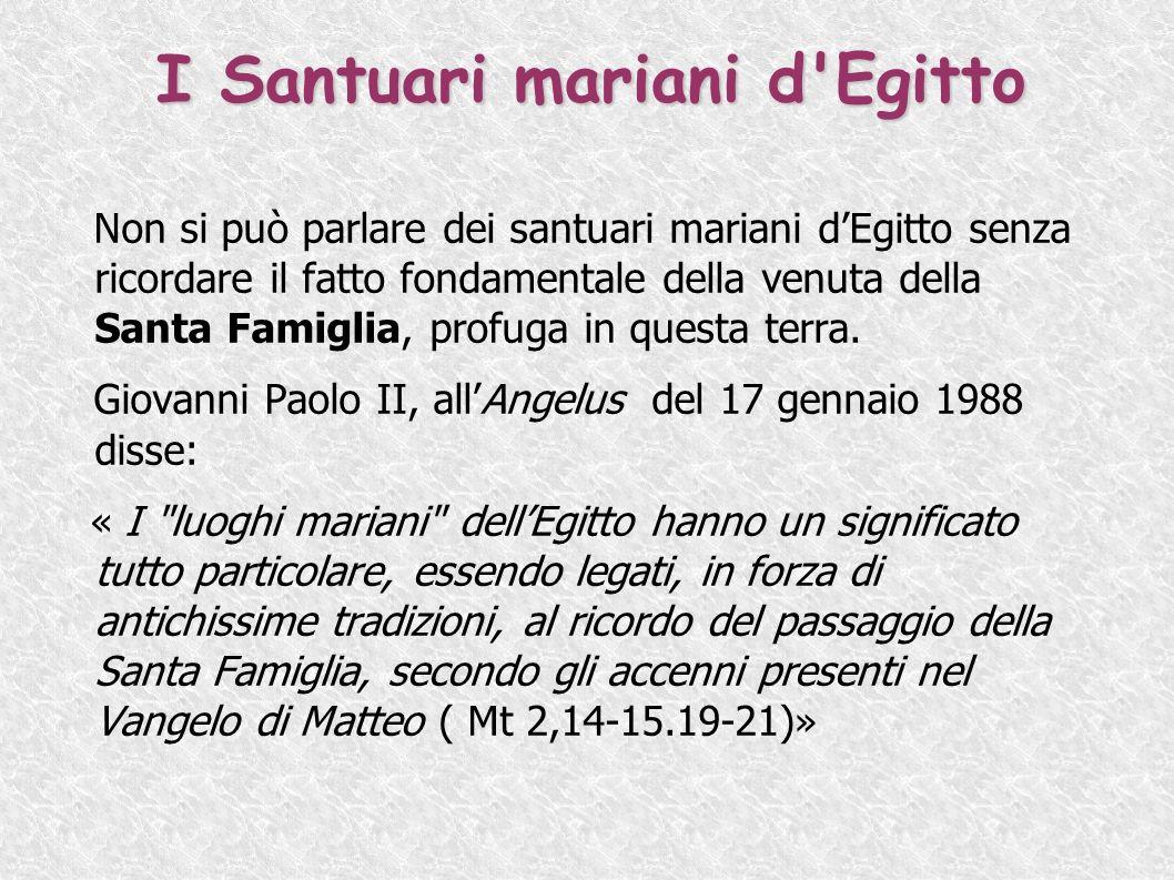 I Santuari mariani d Egitto