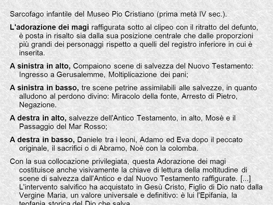 Sarcofago infantile del Museo Pio Cristiano (prima metà IV sec.).