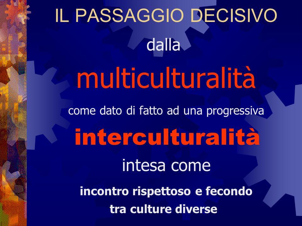 interculturalità IL PASSAGGIO DECISIVO dalla multiculturalità