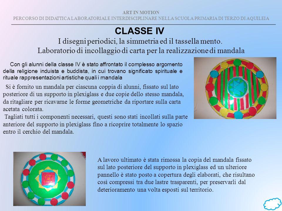 CLASSE IV I disegni periodici, la simmetria ed il tassella mento.