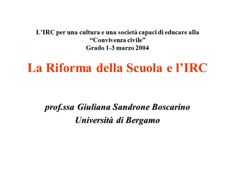 prof.ssa Giuliana Sandrone Boscarino Università di Bergamo