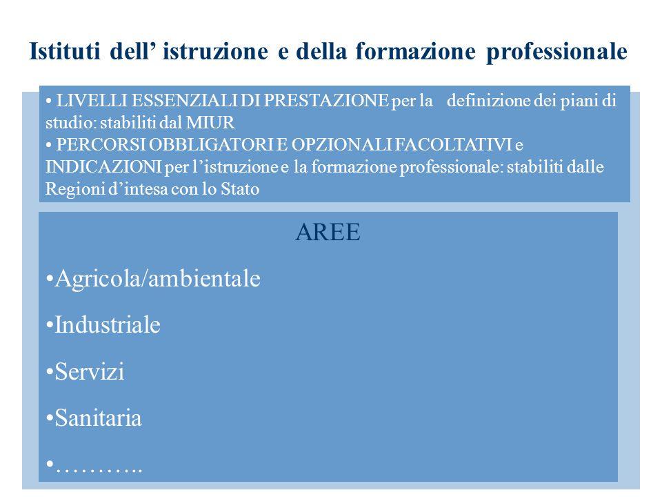 Istituti dell' istruzione e della formazione professionale