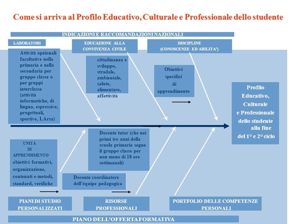 Come si arriva al Profilo Educativo, Culturale e Professionale dello studente