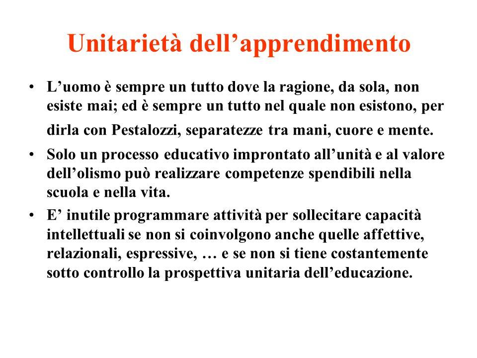 Unitarietà dell'apprendimento