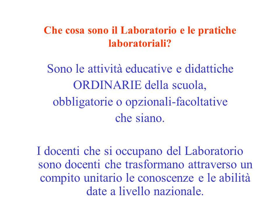 Che cosa sono il Laboratorio e le pratiche laboratoriali