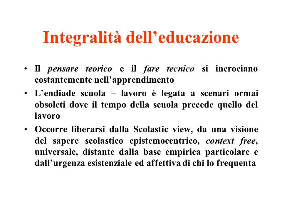 Integralità dell'educazione