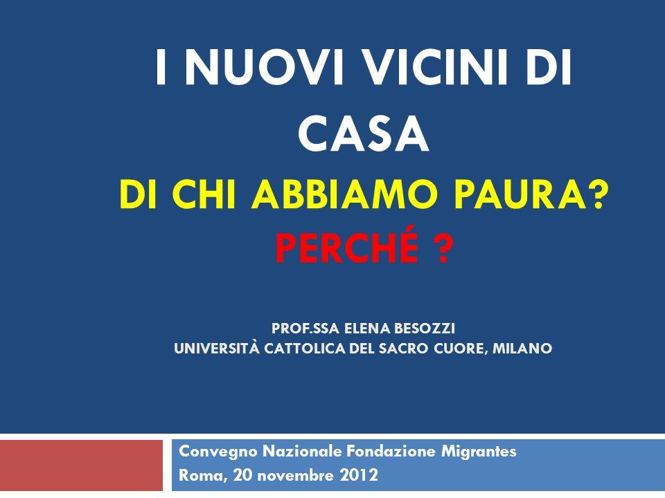 Convegno Nazionale Fondazione Migrantes Roma, 20 novembre 2012