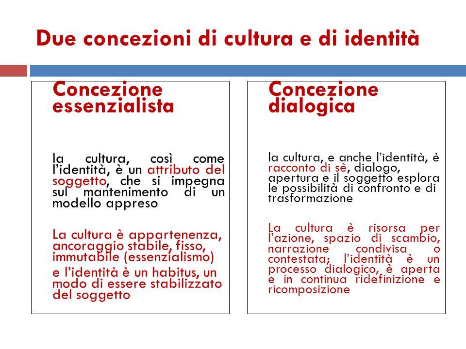 Due concezioni di cultura e di identità