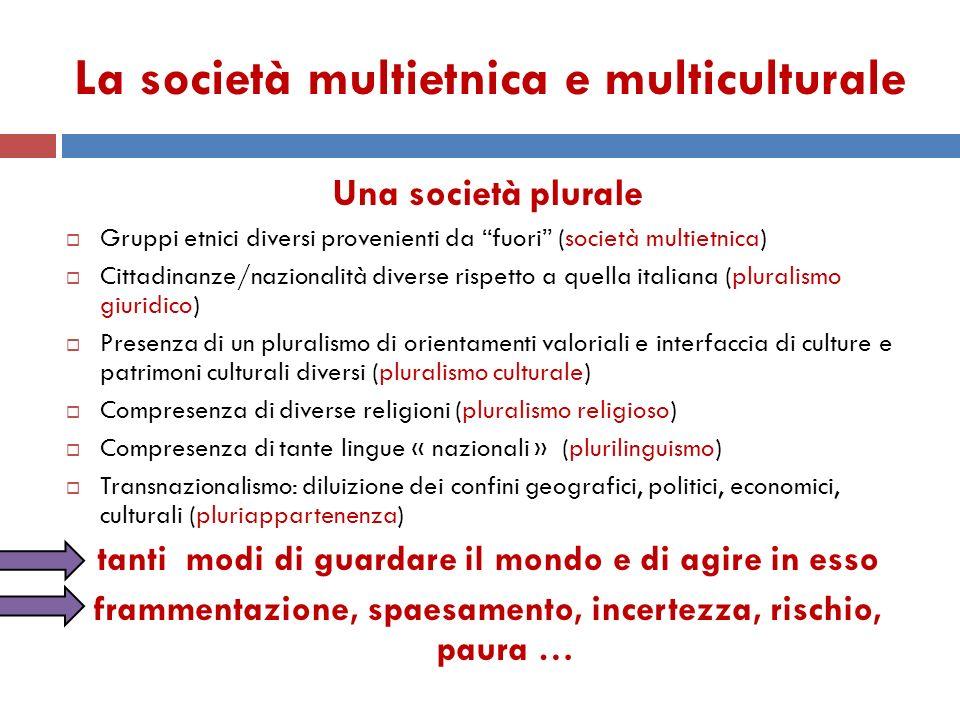La società multietnica e multiculturale