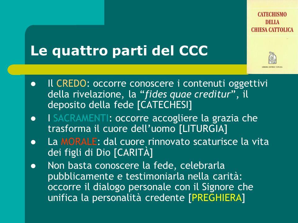 Le quattro parti del CCC