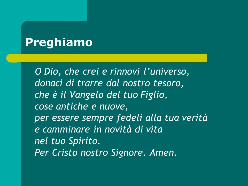 Preghiamo