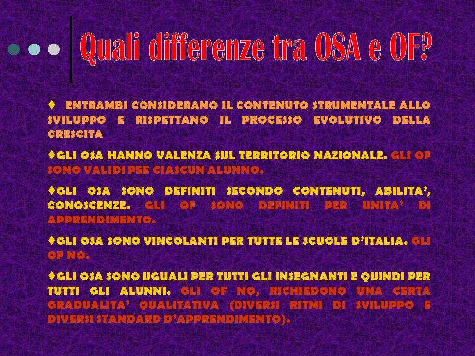 Quali differenze tra OSA e OF
