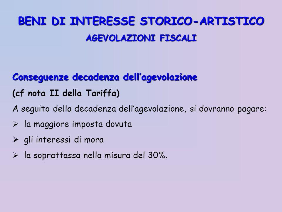BENI DI INTERESSE STORICO-ARTISTICO