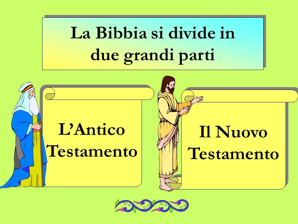 La Bibbia si divide in due grandi parti L'Antico Testamento Il Nuovo Testamento