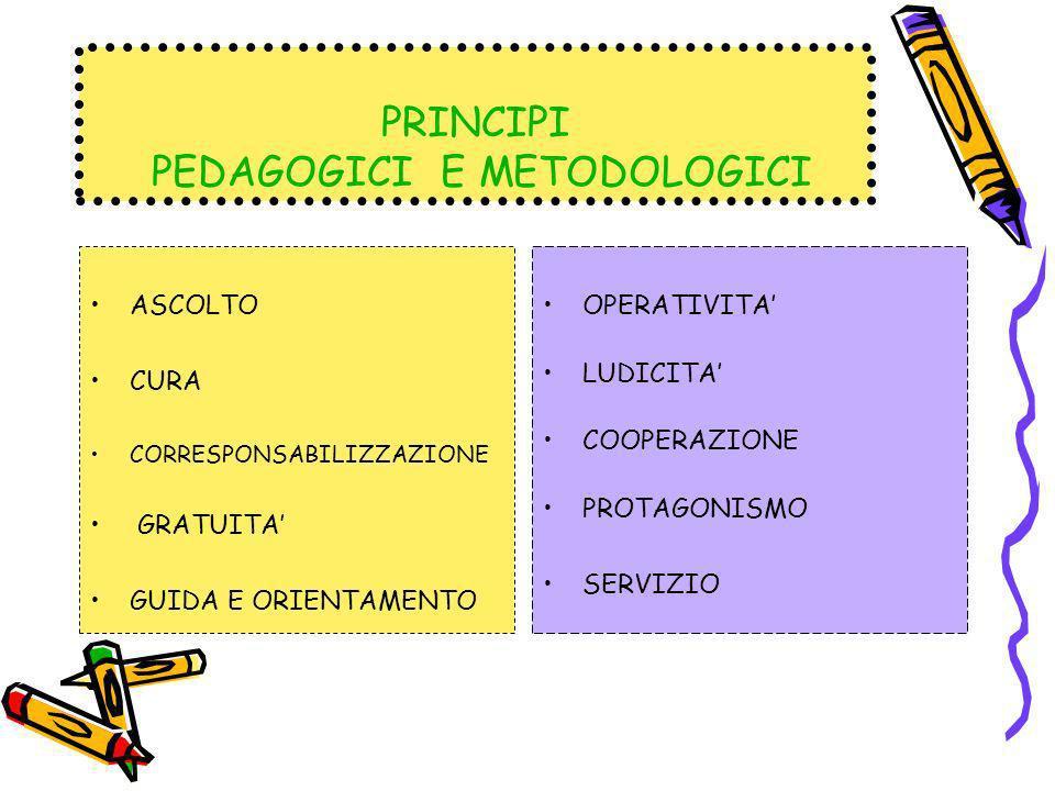 PRINCIPI PEDAGOGICI E METODOLOGICI