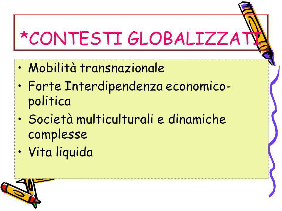 *CONTESTI GLOBALIZZATI