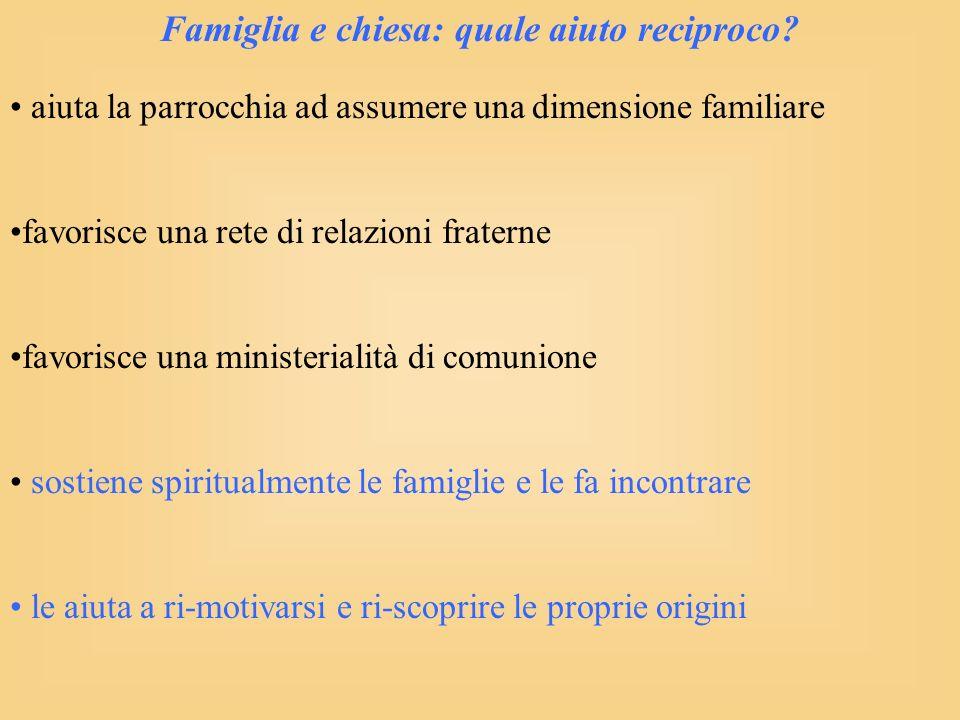 Famiglia e chiesa: quale aiuto reciproco