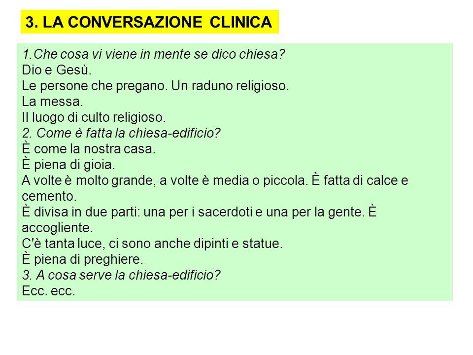 3. LA CONVERSAZIONE CLINICA