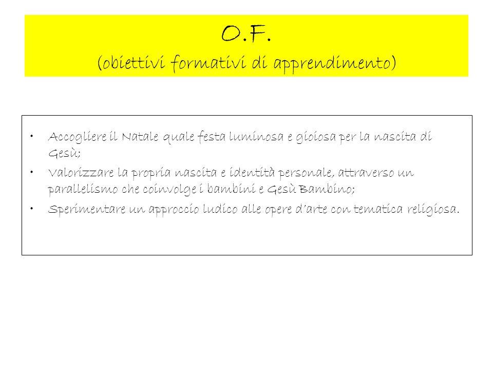O.F. (obiettivi formativi di apprendimento)