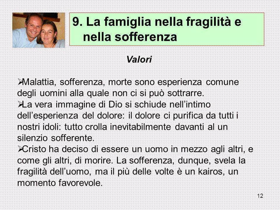 9. La famiglia nella fragilità e nella sofferenza