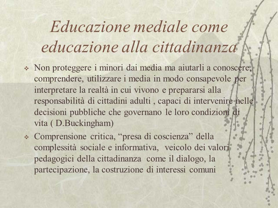 Educazione mediale come educazione alla cittadinanza