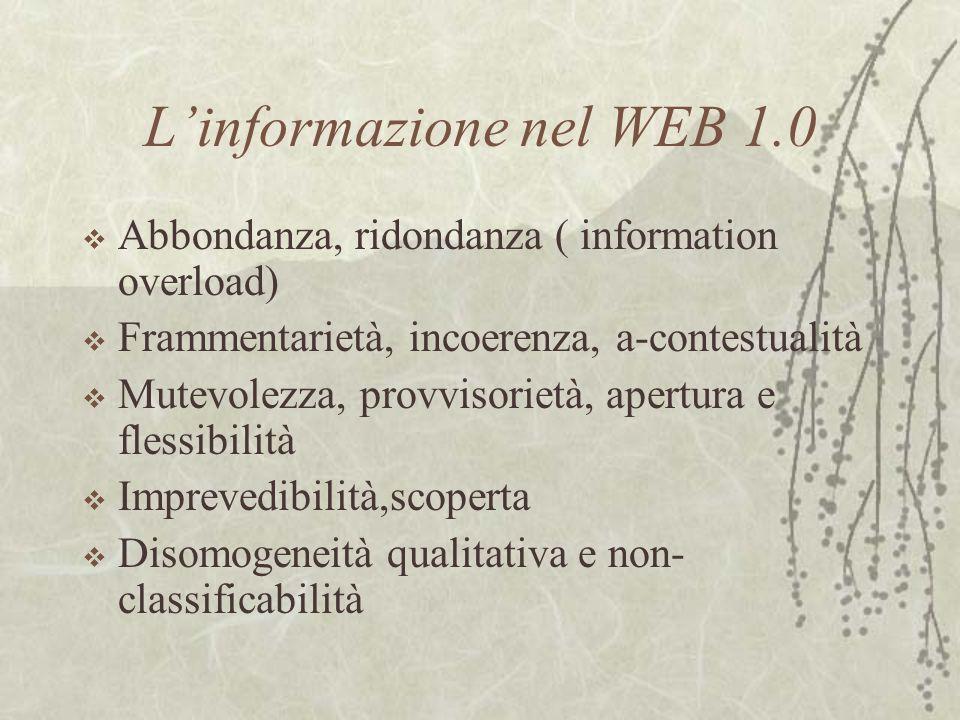 L'informazione nel WEB 1.0