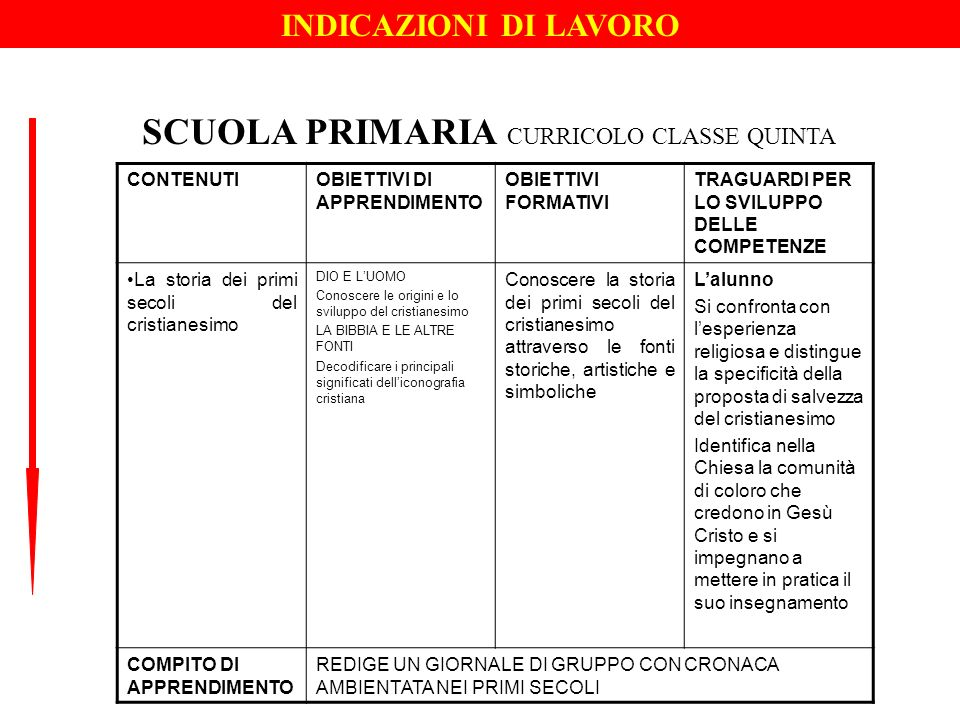 SCUOLA PRIMARIA CURRICOLO CLASSE QUINTA
