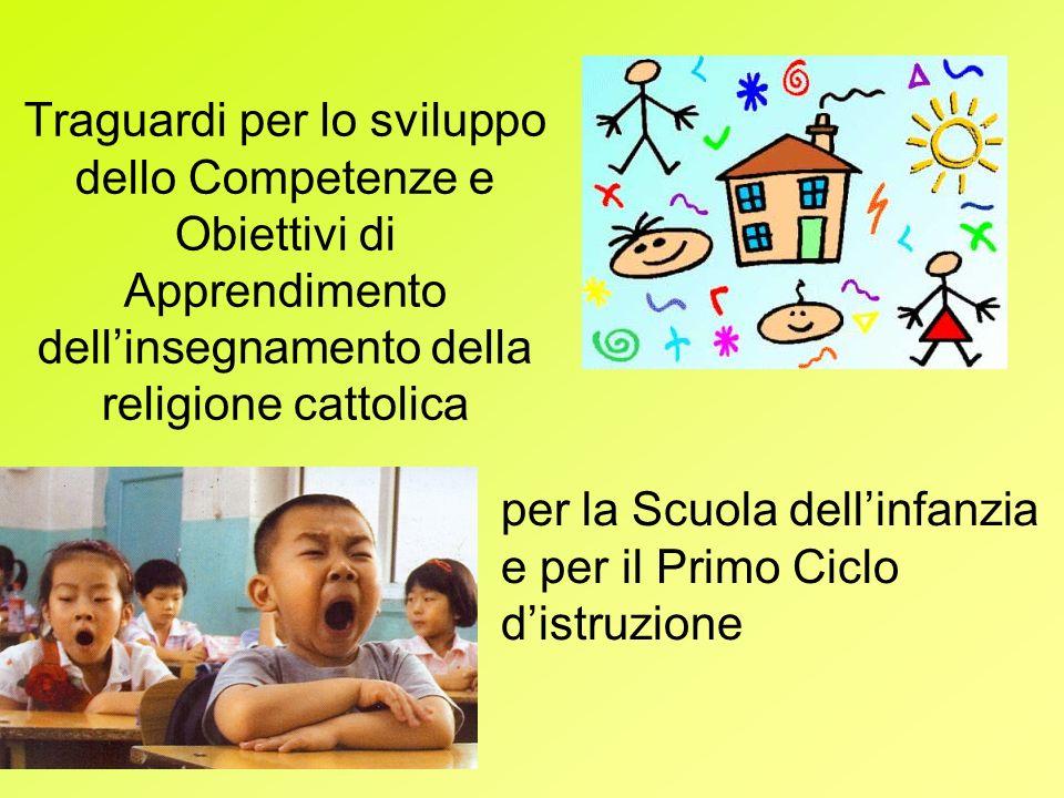 Traguardi per lo sviluppo dello Competenze e Obiettivi di Apprendimento dell'insegnamento della religione cattolica